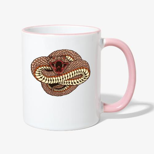 Wild und gefährlich - Tasse zweifarbig