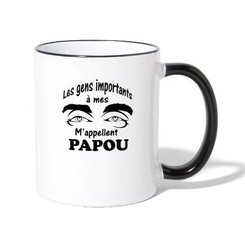 Les gens importants à mes yeux m'appellent PAPOU - Mug contrasté