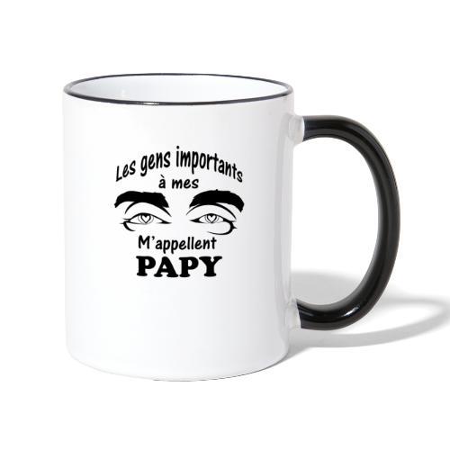 Les gens importants à mes yeux m'appellent PAPY - Mug contrasté