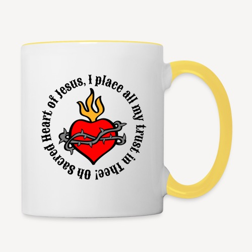 Oh Sacred Heart of Jesus... - Contrasting Mug