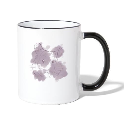 Violet splash chinchilla 2 - Kaksivärinen muki