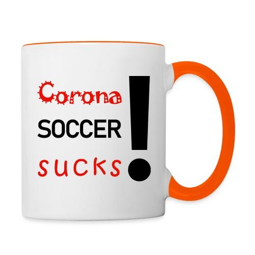 Corona Soccer sucks - Tasse zweifarbig