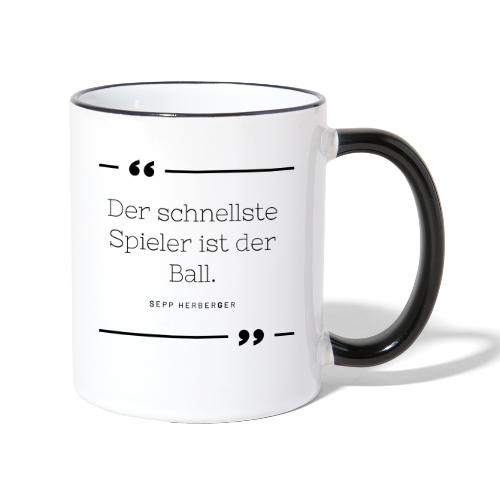Sepp Herberger Zitat - Tasse zweifarbig