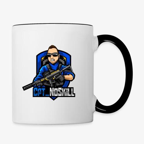 Cpt_NoSkill Logo Blau - Tasse zweifarbig