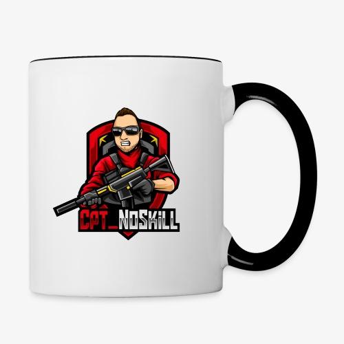 Cpt_NoSkill Logo Rot - Tasse zweifarbig