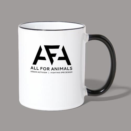 AFA Logo Zwart - Mok tweekleurig