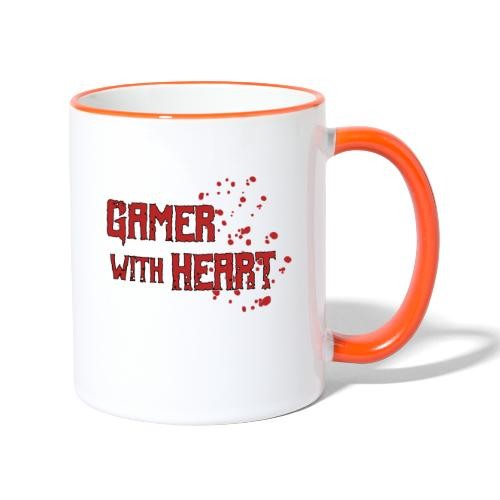 Gamer with heart - Contrasting Mug