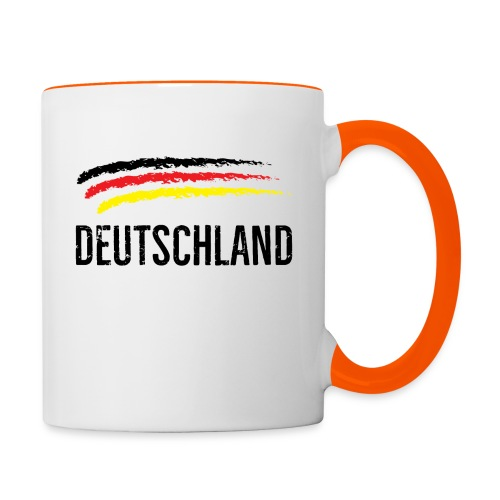 Deutschland, Flag of Germany - Contrasting Mug