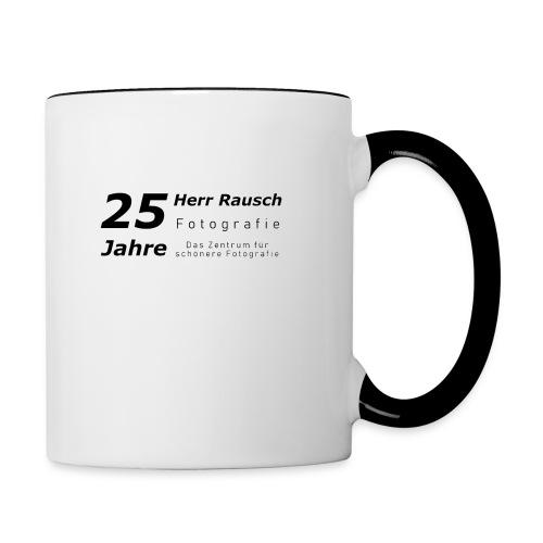 25 Jahre Herr Rausch Fotografie - Tasse zweifarbig