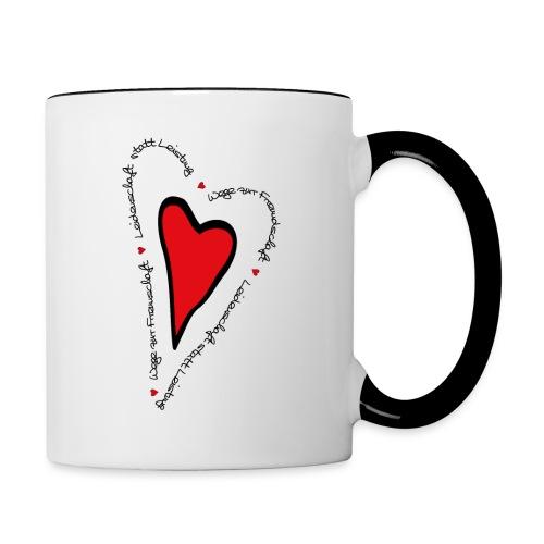 Ullihunde - Herz - Tasse zweifarbig