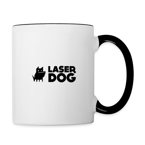 Laser Dog Logo - Contrasting Mug