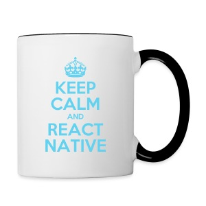 KEEP CALM AND REACT NATIVE SHIRT - Tasse zweifarbig