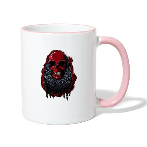 Red Skull in Chains - Contrasting Mug