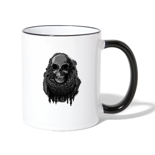 Skull in Chains - Contrasting Mug