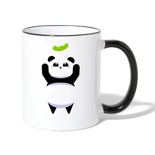 Für die Bohne Panda - Tasse zweifarbig