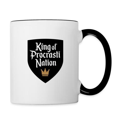 King Of ProcrastiNation - Tasse zweifarbig
