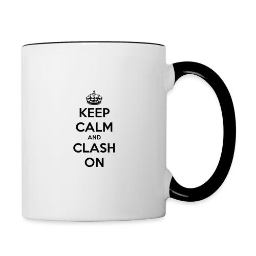 tasse keep calm and clash on - Mug contrasté