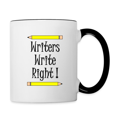 Writers Write Right - Contrasting Mug