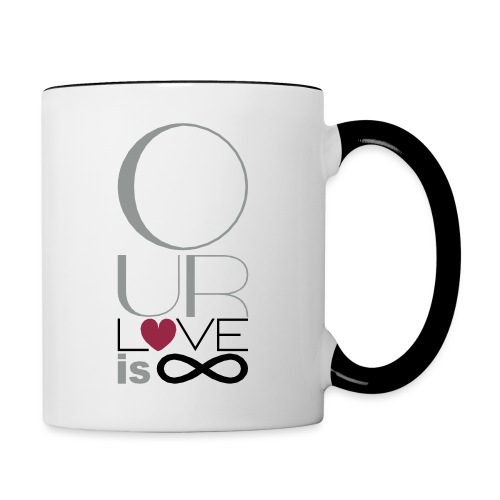 Our Love is Infinite - Contrasting Mug