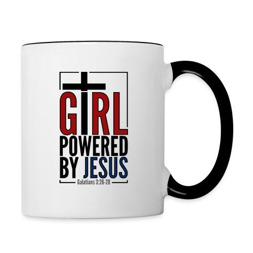 Girl powered by Jesus - Tvåfärgad mugg