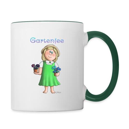 Süßes Garten Mädchen - Gartenfee - Tasse zweifarbig