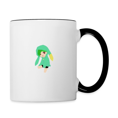 Green haired SkaiLaPie pillow - Contrasting Mug