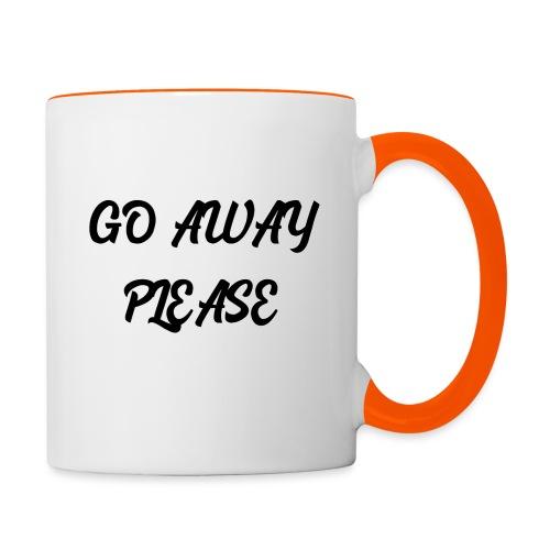 Go Away Please - Tasse zweifarbig