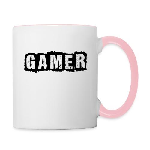 D 40 Gamer - Tasse zweifarbig