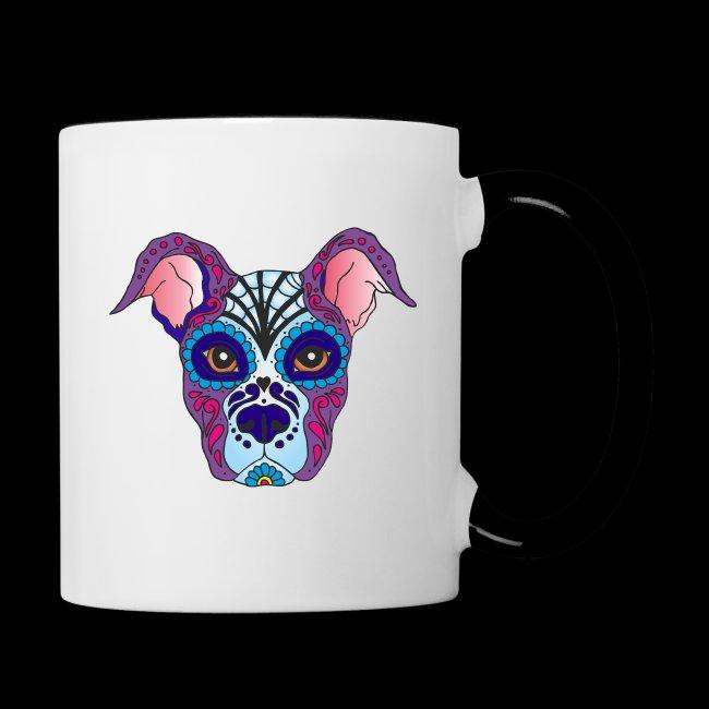 Evastylez Mexikanische Totenmaske Hund Tasse Zweifarbig