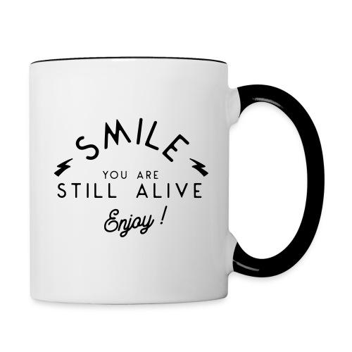 Souriez vous êtes vivant - Contrasting Mug