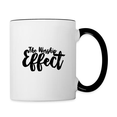 The Worship Effect LOGO Black - Contrasting Mug