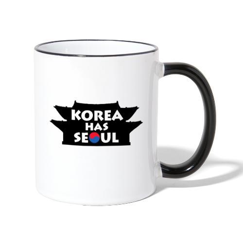 Korea has Seoul - Tasse zweifarbig