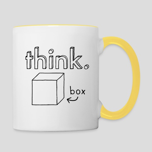 Think Outside The Box Illustration - Contrasting Mug