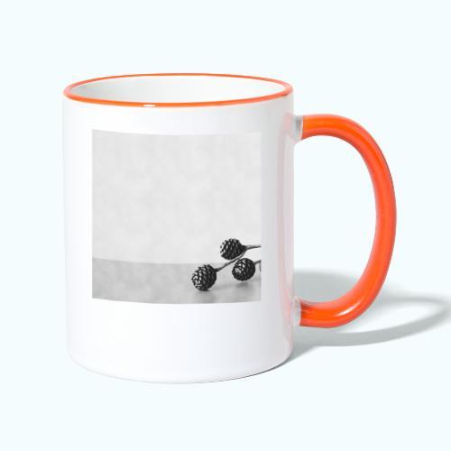 Gray minimalism composition watercolor - Contrasting Mug