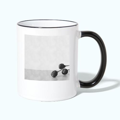 Gray minimalism composition watercolor - Contrasting Mug