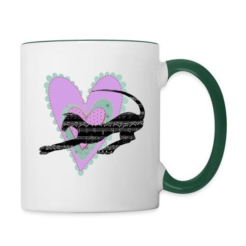 Musik hjärta - Tvåfärgad mugg