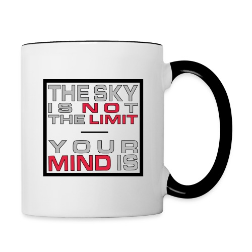 No Limit Mind - Tasse zweifarbig