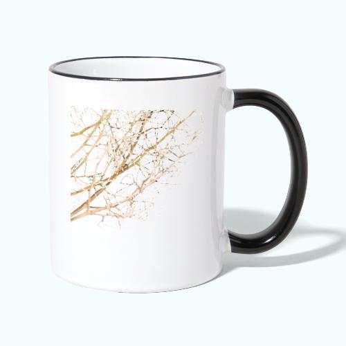 Grass beige minimalism watercolor nature - Contrasting Mug