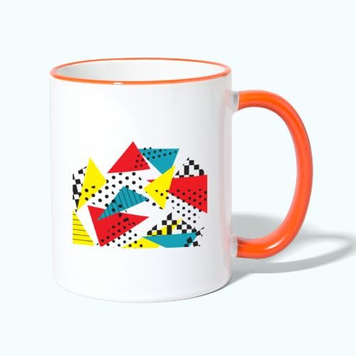 Abstract vintage collage - Contrasting Mug