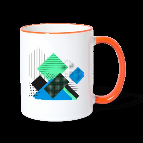 Abstract rectangles pastel - Contrasting Mug