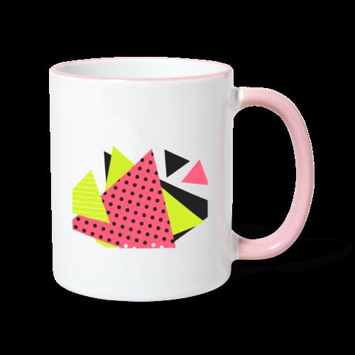 Neon geometry shapes - Contrasting Mug