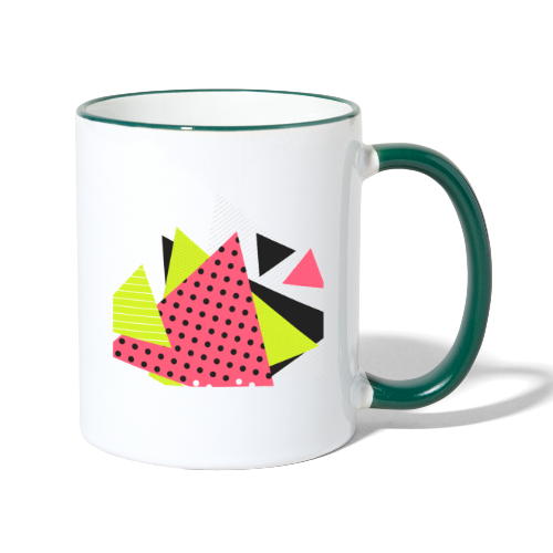 Neon geometry shapes - Contrasting Mug
