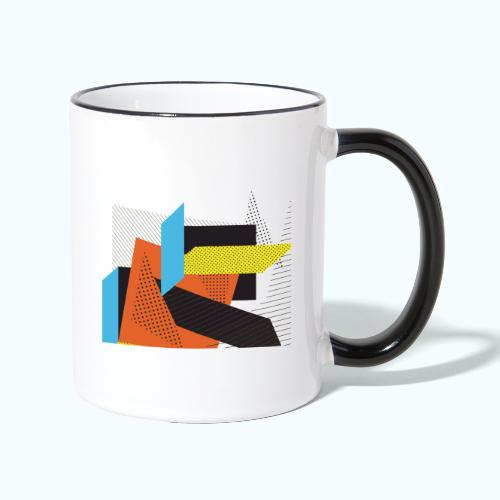 Vintage shapes abstract - Contrasting Mug