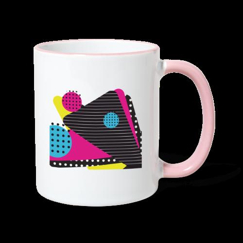 Abstract vintage shapes pink - Contrasting Mug