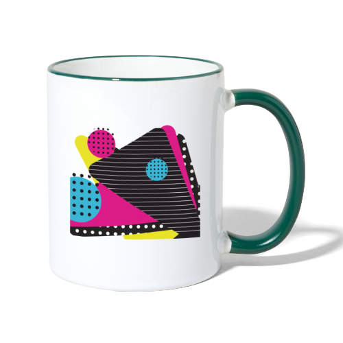 Abstract vintage shapes pink - Contrasting Mug