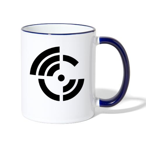 electroradio.fm logo - Contrasting Mug