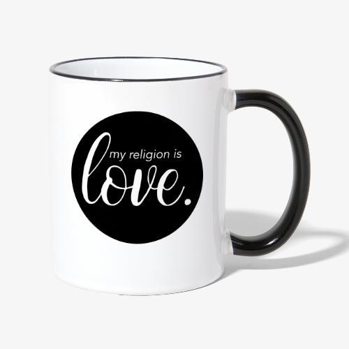 love religion - Tasse zweifarbig