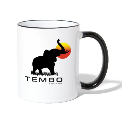 elephant - Tembo - Tasse zweifarbig