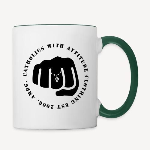 CATHOLICS WITH ATTITUDE - Contrasting Mug
