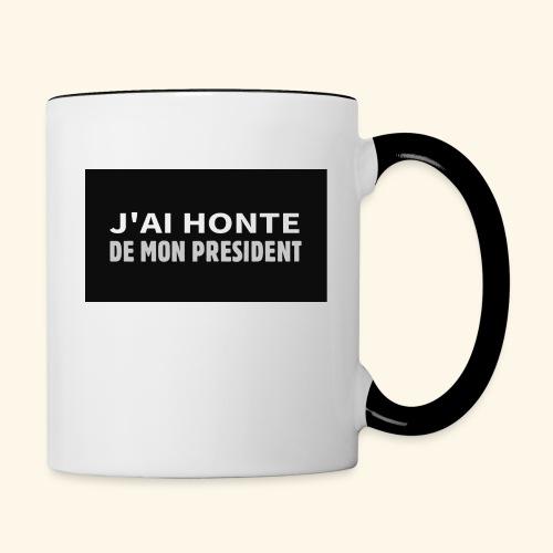 Honte de mon président - Mug contrasté